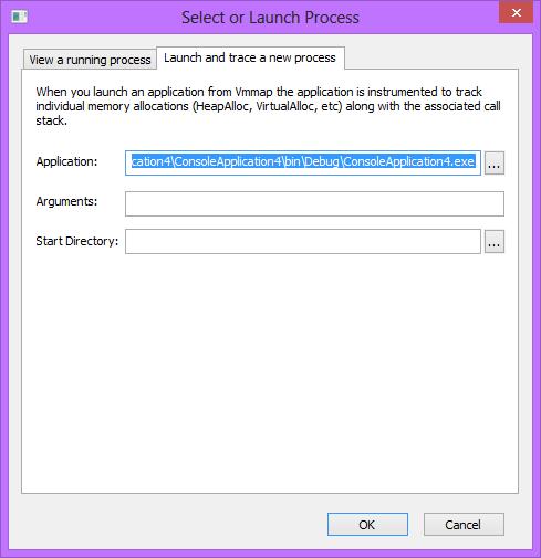 VMMap trace process