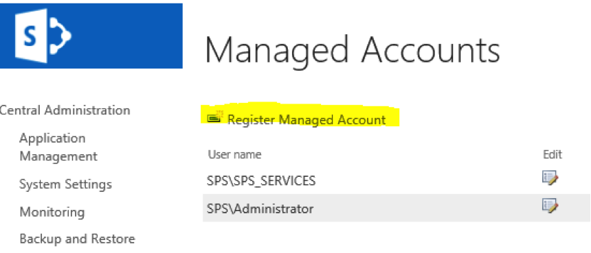 Register Managed Account