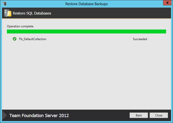 12 backup restore done