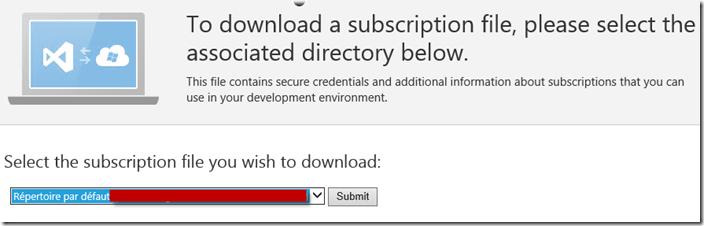 get subscription file