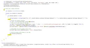 Génération dynamique du code javascript de création des Push-Pins