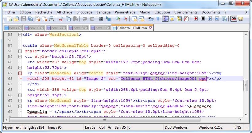 html signature