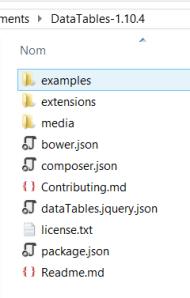 DataTableFolder