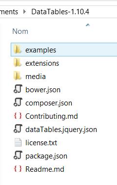 Datatables jquery avec ASP NET MVC 5 - 1ère partie