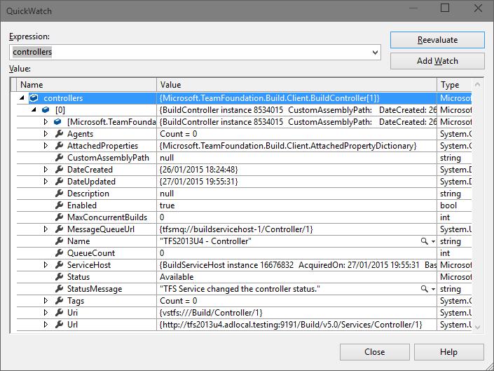 API TFS - Build Controllers