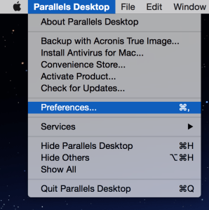 Parallels-Preferences