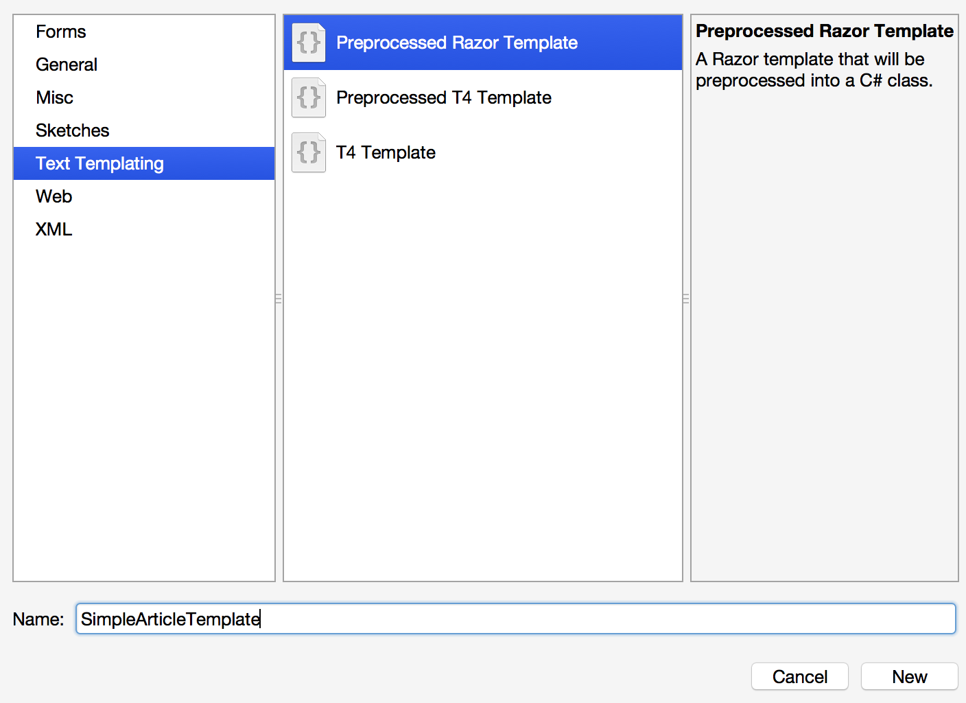 xamarin studio code templates - utiliser razor dans vos applications xamarin cellenza blog