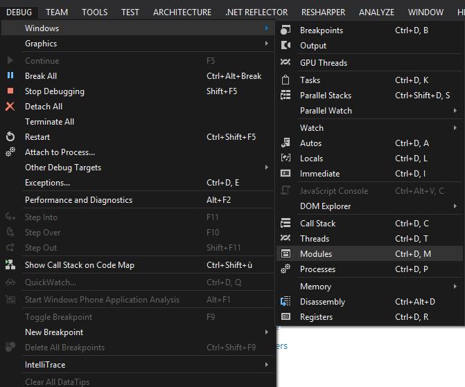 menu modules