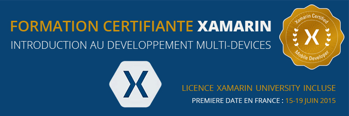 Certification Xamarin : la Licence Xamarin University incluse