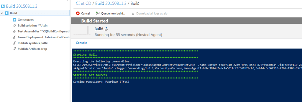 build vnext execution details