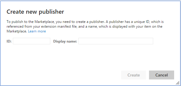 Publier Extension publisher