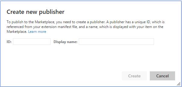 Publier Extension publisher