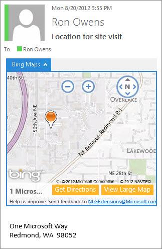 Un add-in qui détecte une adresse postale et propose un plan Bing Maps