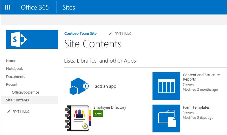 Add-in SharePoint installé