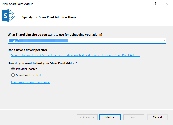 Mode d'hébergement des Add-in SharePoint