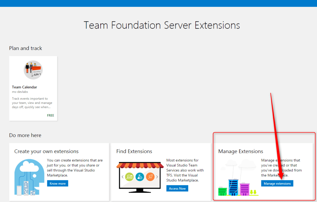 TFS extension manage 2