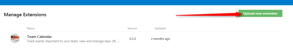 TFS extension upload