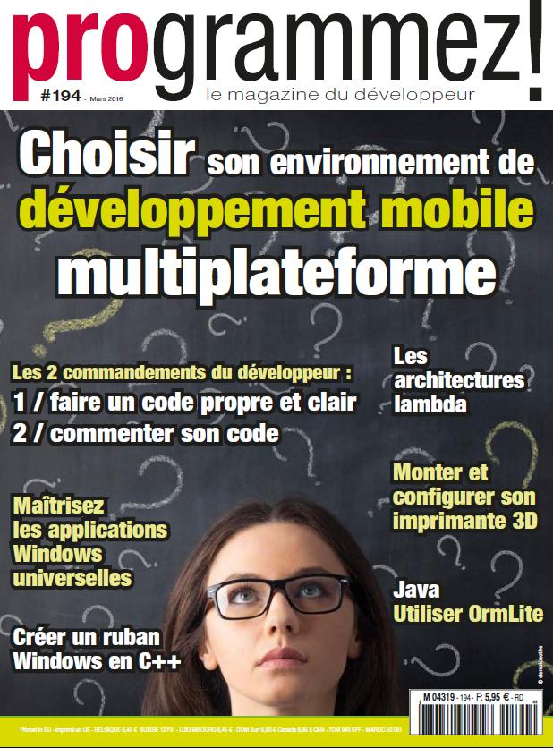programmez! mobilité architecture développement mobile