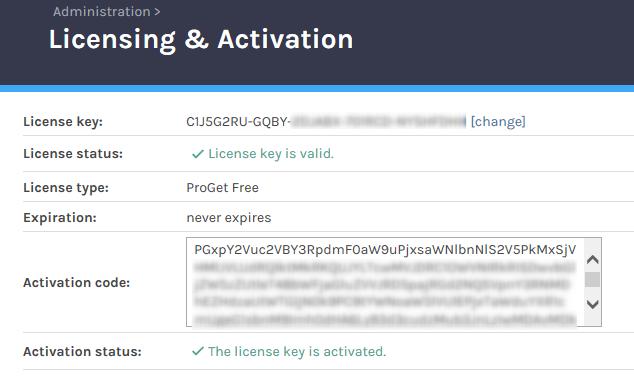 Déployer vos packages dans ProGet avec TFS/VSTS - activationProget2