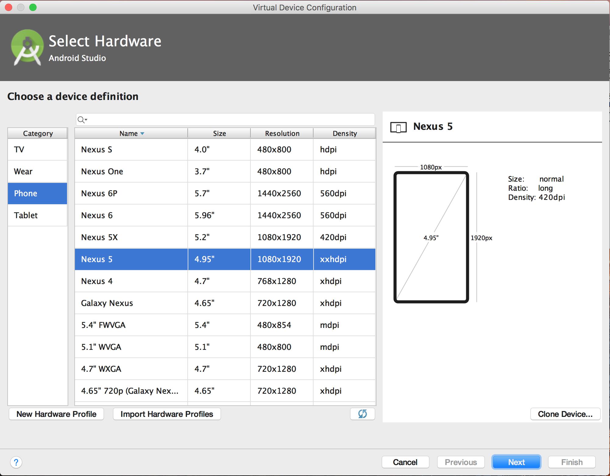 Émulateur Android sur MacOS depuis un Windows dans Parallels