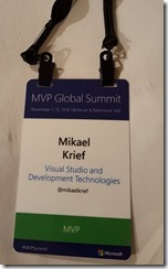 Retours du MVP Summit - badge