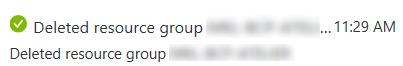 Azure Resource Group supprimé