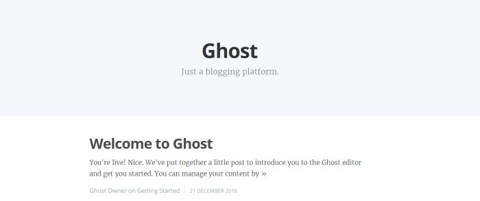 Ghost sous Docker dans App Service