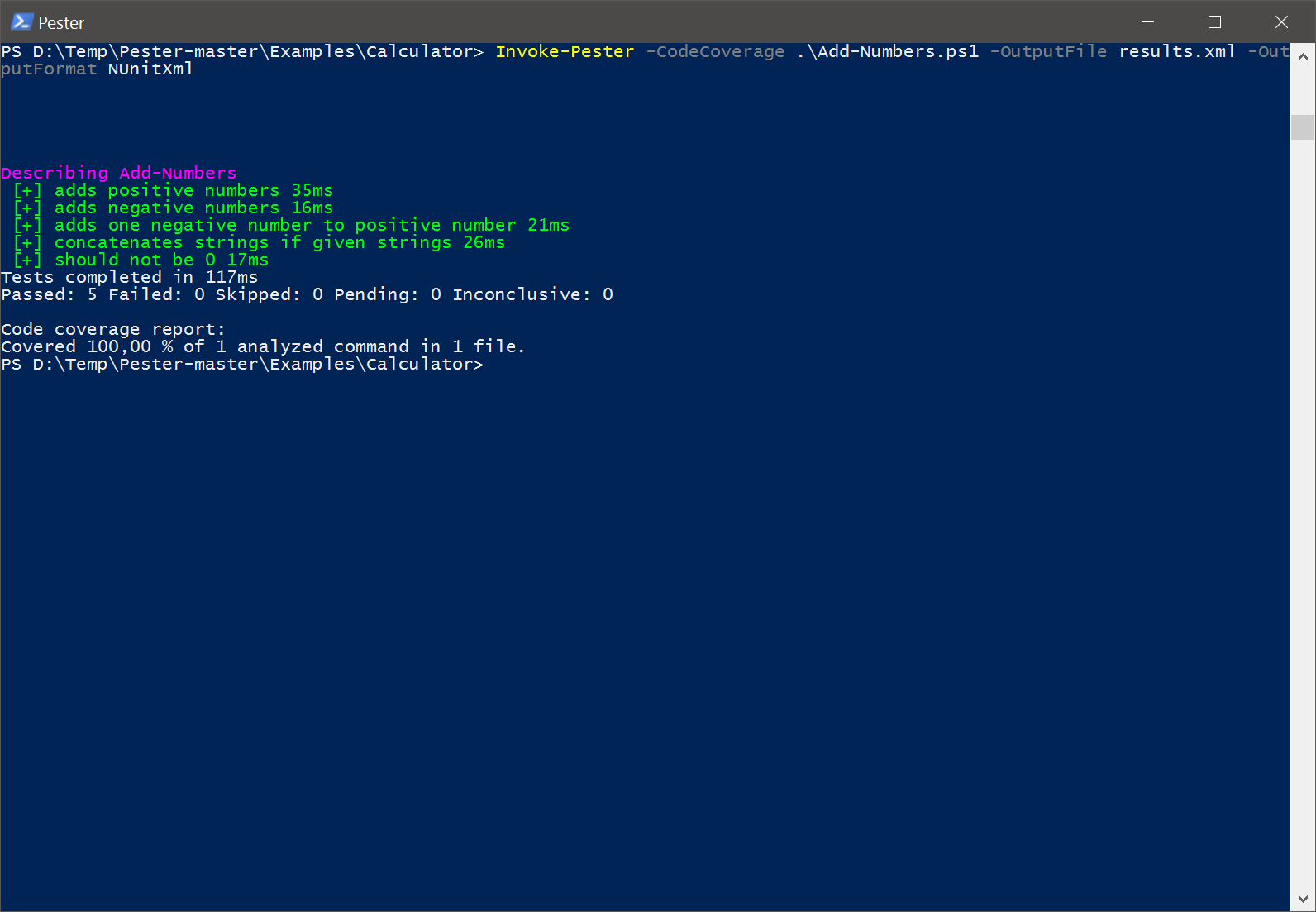 powershell-pester