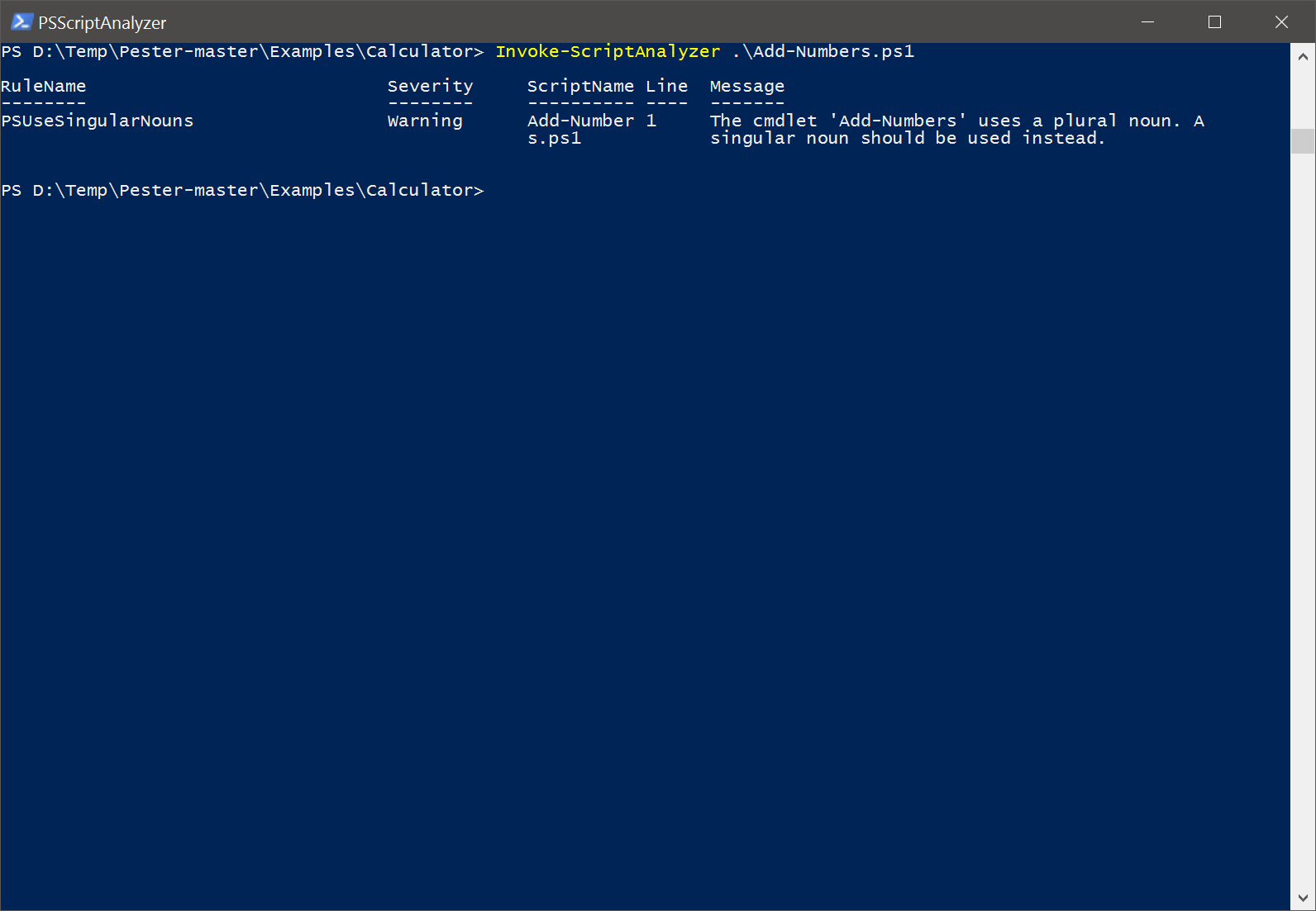 powershell-psscriptanalyzer