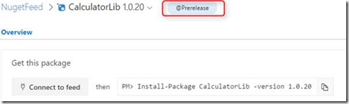 nuget release view