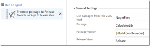 promote package nuget vsts