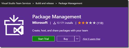 Gérer vos package Nuget dans VSTS package marketplace