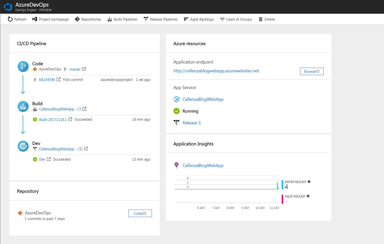 Azure DevOps Project