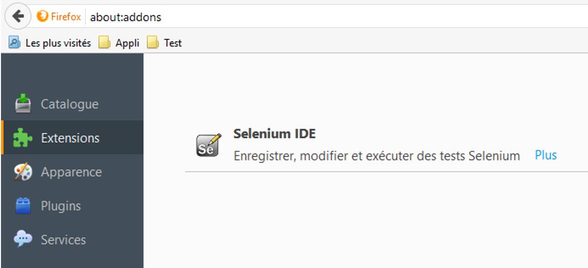 Selenium IDE Firefox
