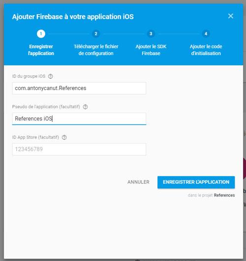 Ajouter Firebase à votre application iOS