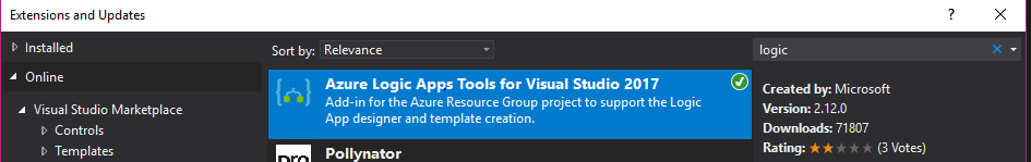 Azure Logic App Tools vor visual studio