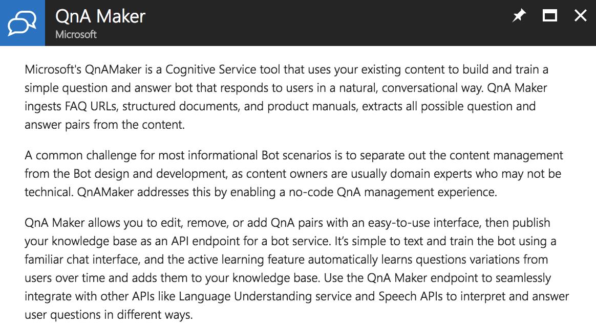 QnA Maker dans votre portail Azure