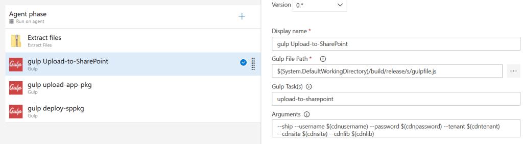 tâche d'exportation du Bundle dans une bibliothèque Sharepoin
