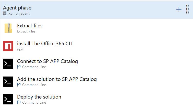 liste des tâches nécessaires pour ajouter et déployer le package de solution sur votre tenant