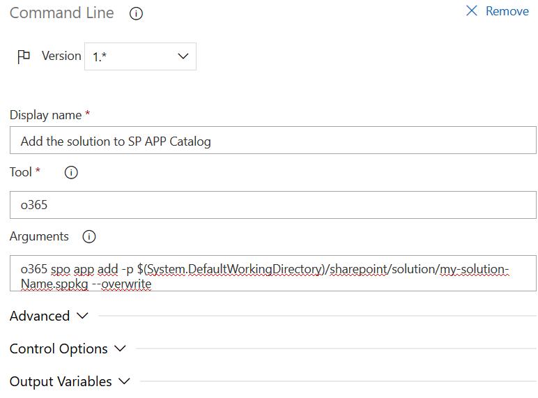 Tâche de téléchargement de la solution SPfx dans le catalogue du tenant