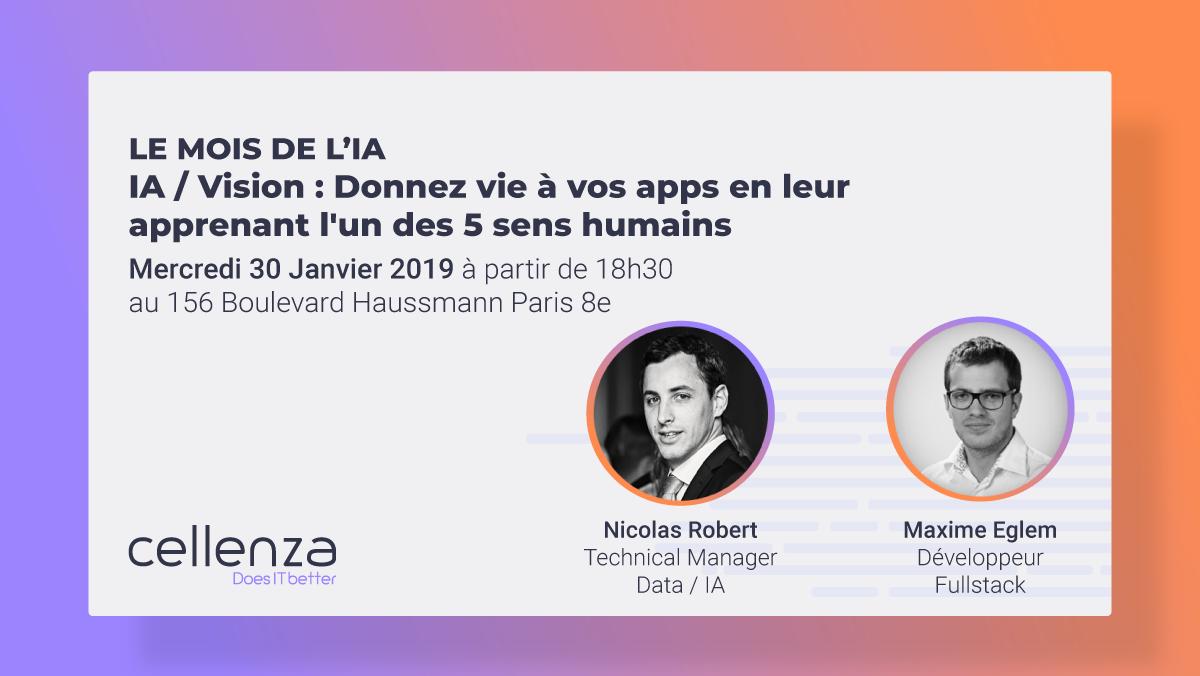 IA / Vision : Donnez vie à vos apps en leur apprenant l'un des 5 sens humains