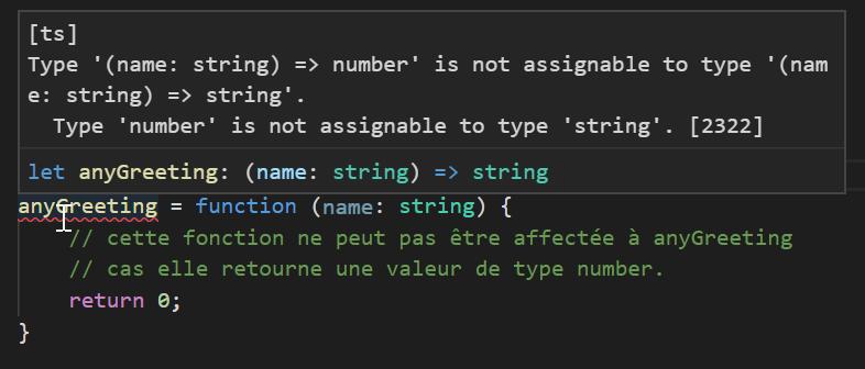 les fonctions dans typescript