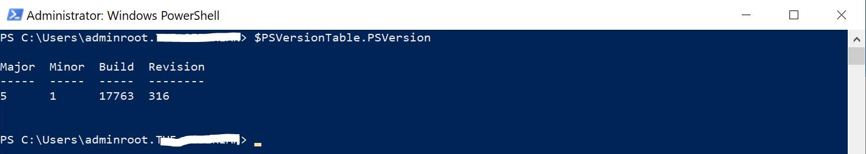 PowerShell 5.1.x.