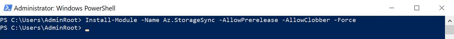 Installer le module Az-StorageSync