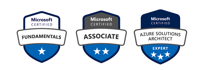 Badges formations azure