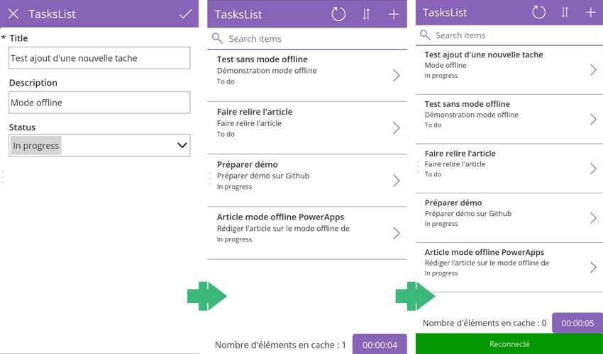 Le mode offline sur une application PowerApps