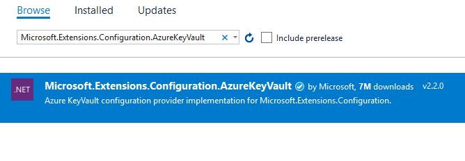 Microsoft.Extensions.Configuration.AzureKeyVault