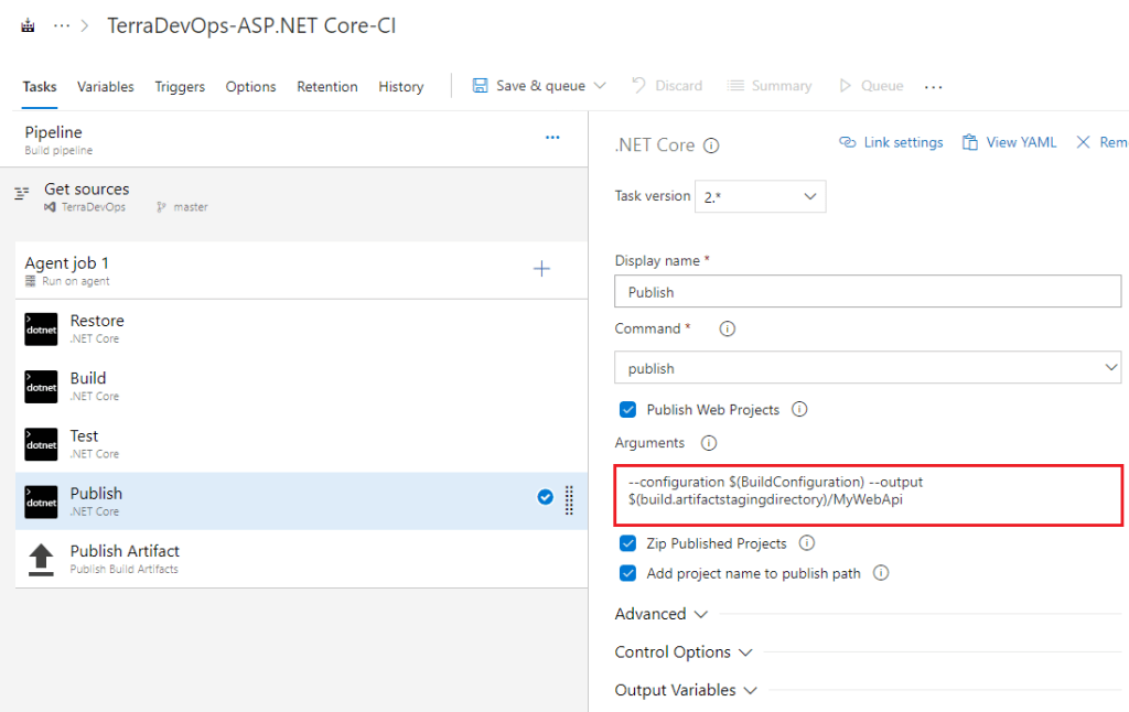 Azure Devops Output Variables