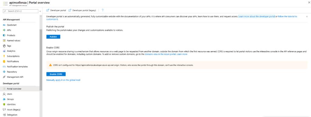 capture portal overview service API Management