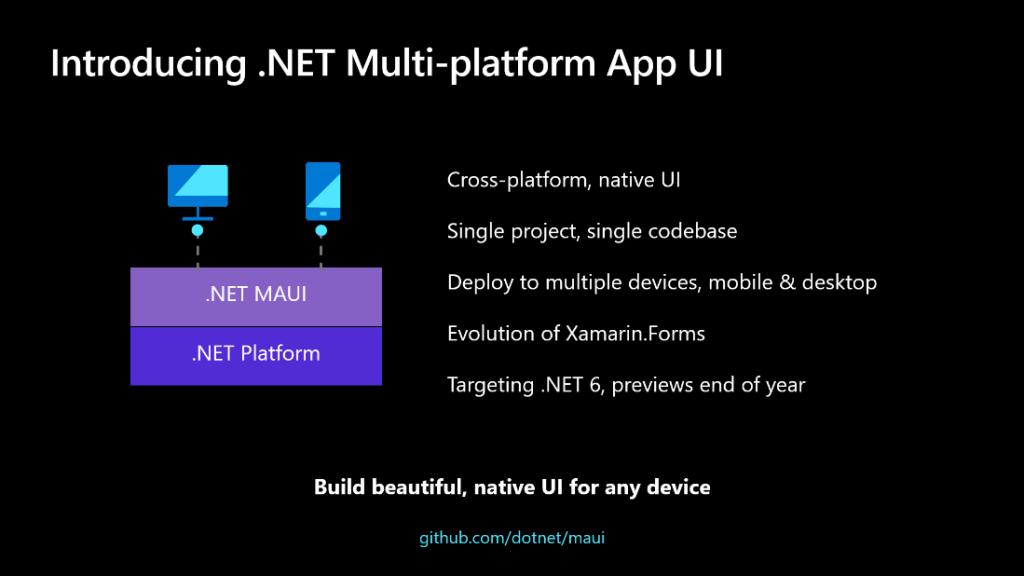 Annonce Microsoft pour .NET MAUI